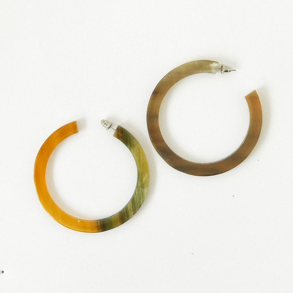 Flat Horn Earrings