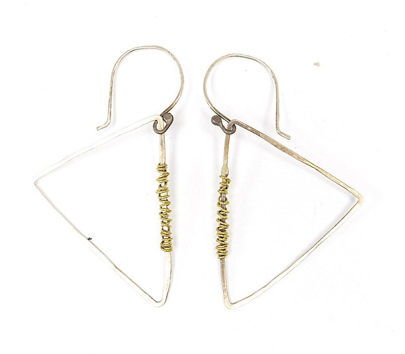 Primitive Triangle Earrings