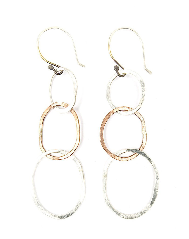 Beaten Path Single Chain Shiny Earrings
