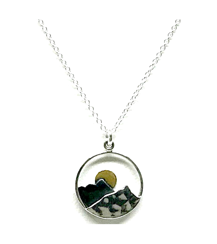 Mountain and Mood Sterling Necklace