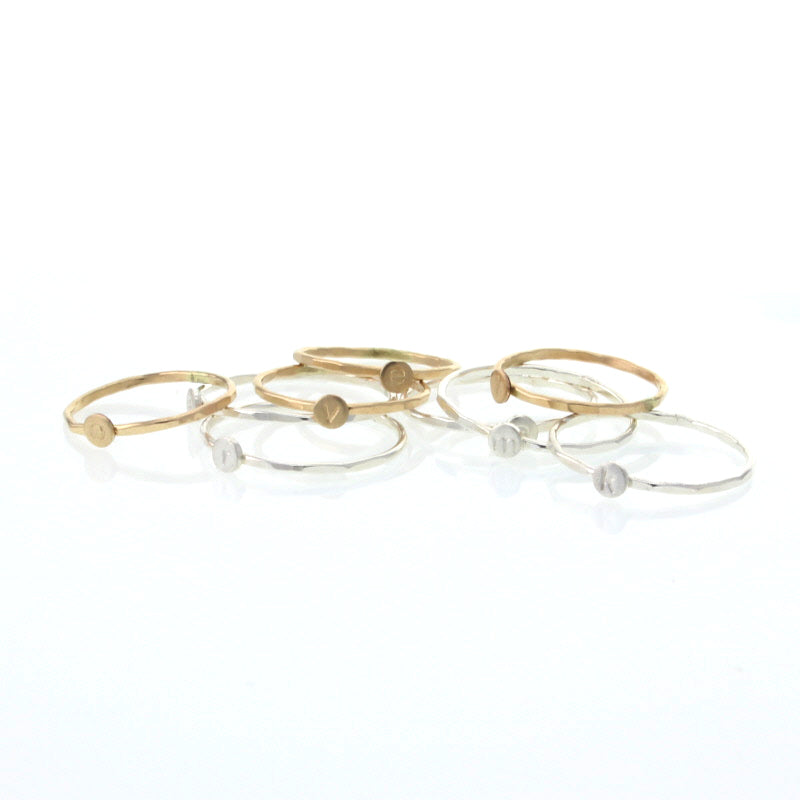 Mini Letter Stacking Rings