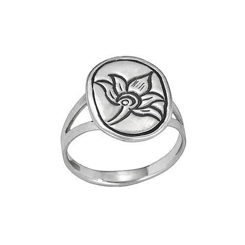 Stamp Lotus Ring