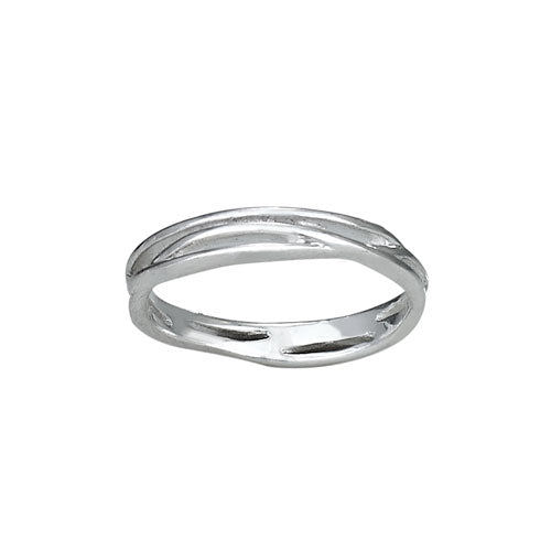 3 Band Twist Ring