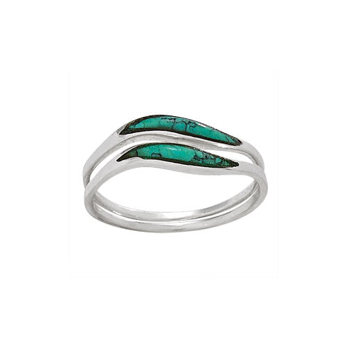 DBL Turquoise Wave Ring