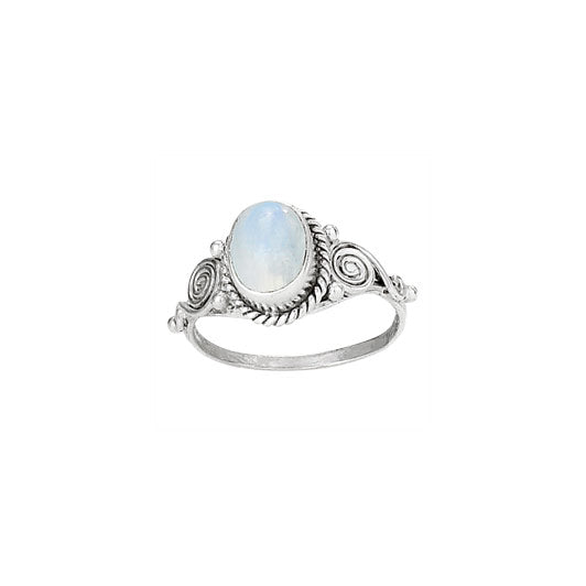 Moonstone Swirl Ring