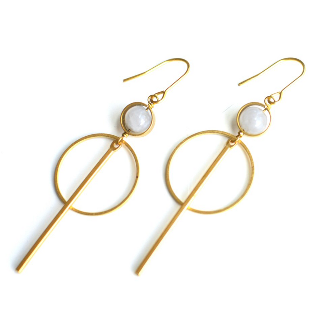 Moonstone Strobe Earrings