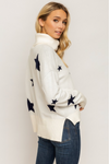 Cream & Navy Seeing Stars Sweater