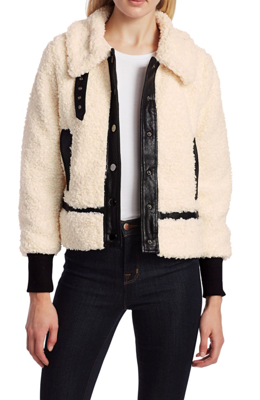 Shearling Leather Motto Jacket
