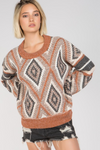 Technicolored Triangle Knit Sweater