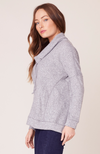 Grey Exceptions Cowl Neck Top