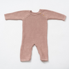 Organic Cotton Classic Knit Baby Romper - Berry