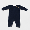 Organic Cotton Classic Knit Baby Romper - Navy