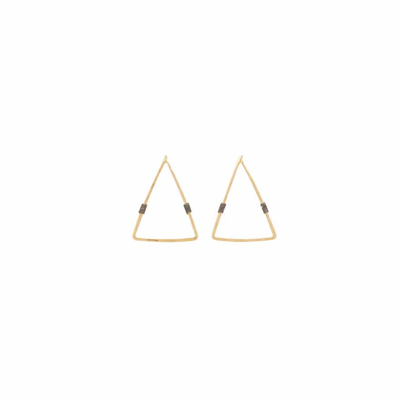 Trigon Post-Small 14K Yellow Gold Fill & Sterling Silver