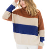 Rust & Royal Color Blocked Sweater