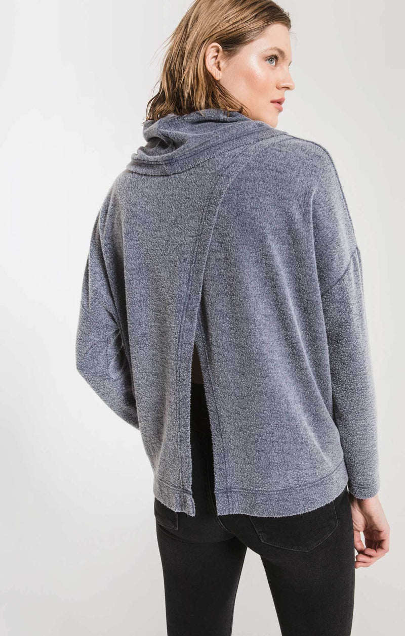 Fleece Scallop Back Top