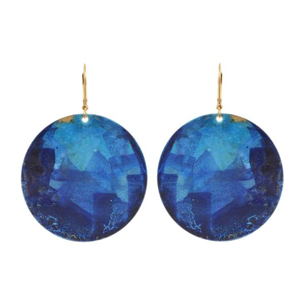 Lazuli Round Earrings