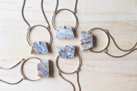 Primitive Necklace Bronze & Silver