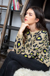 Oatmeal Leopard Pullover Sweater
