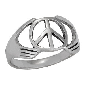 Gasping Peace Ring