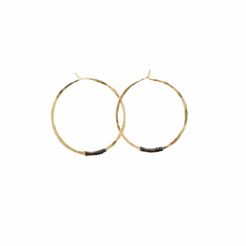 Sol Hoop-Small 14K Yellow Gold Fill & Sterling Silver