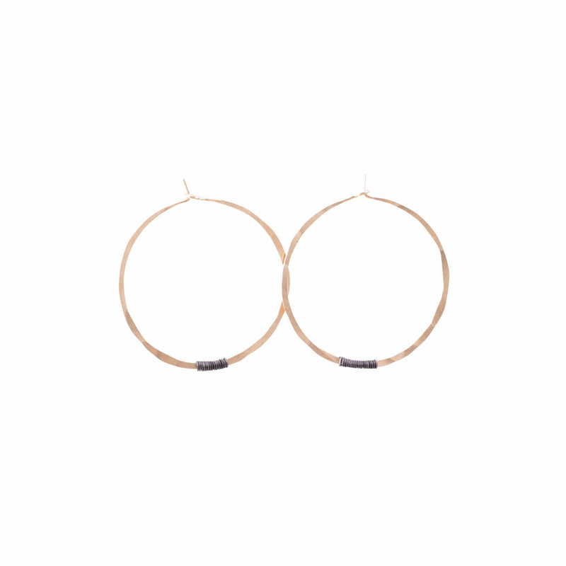 Sol Hoop-Small 14k Rose Gold Fill & Sterling Silver