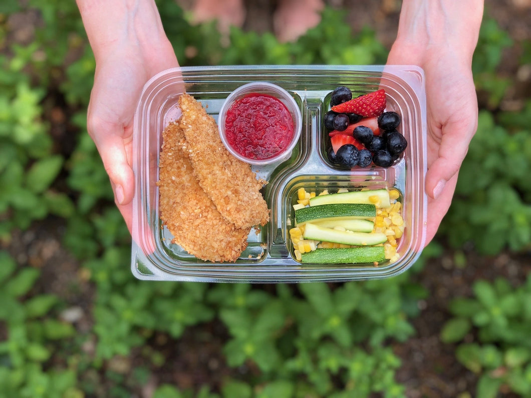 Market - Crunchy Oven-Baked Chicken Strips with Rainbow Sauce Dip