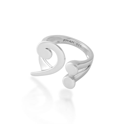 Adjustable Bass Clef Ring
