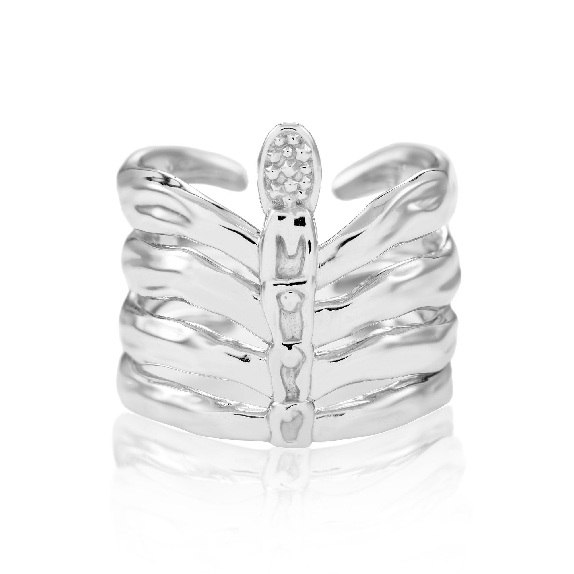 The Rib Cage Ring - Fiyah Jewellery - 1