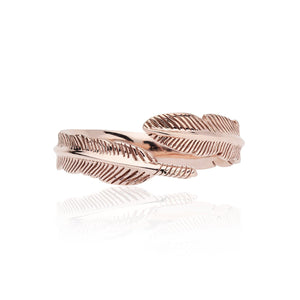 9ct Rose Gold Adjustable Plume Ring