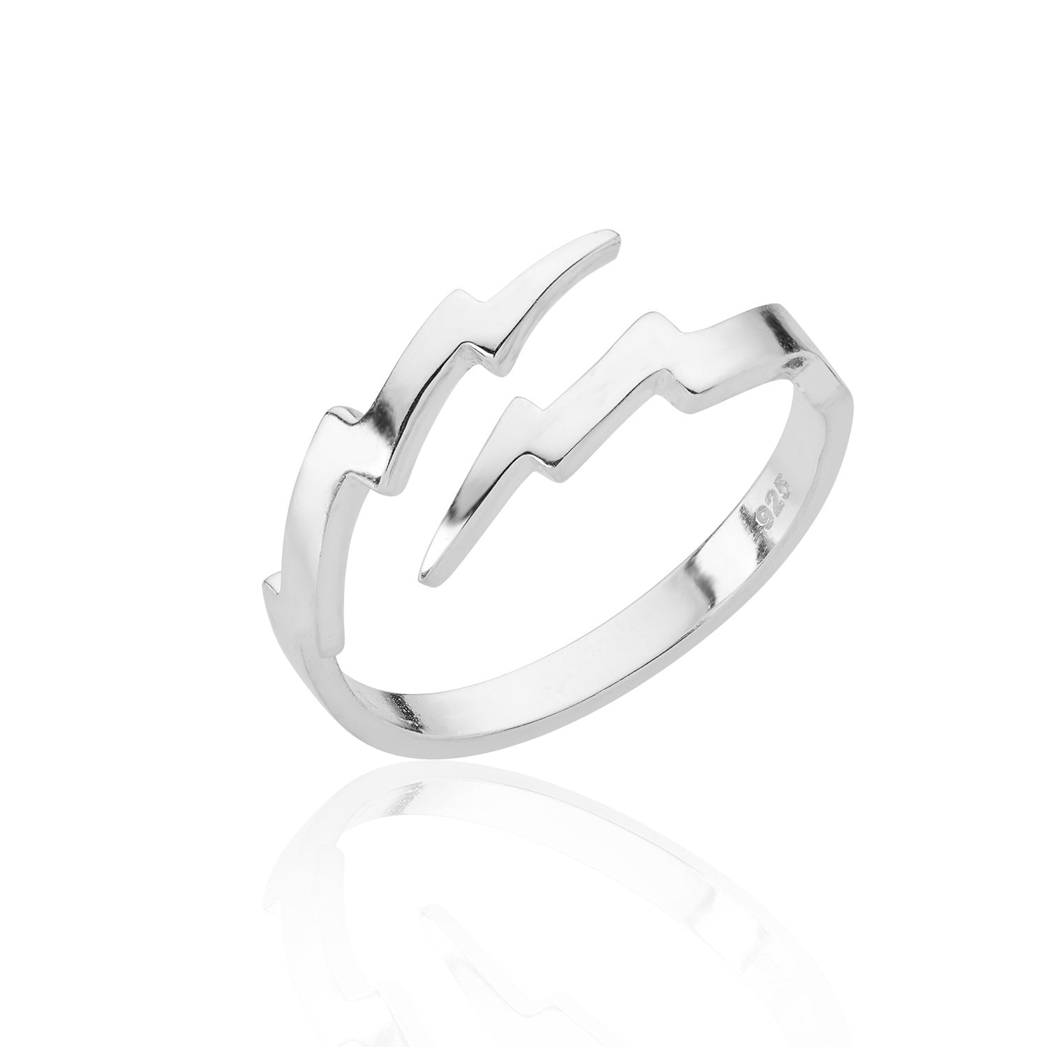 Adjustable Lightning Bolt Ring