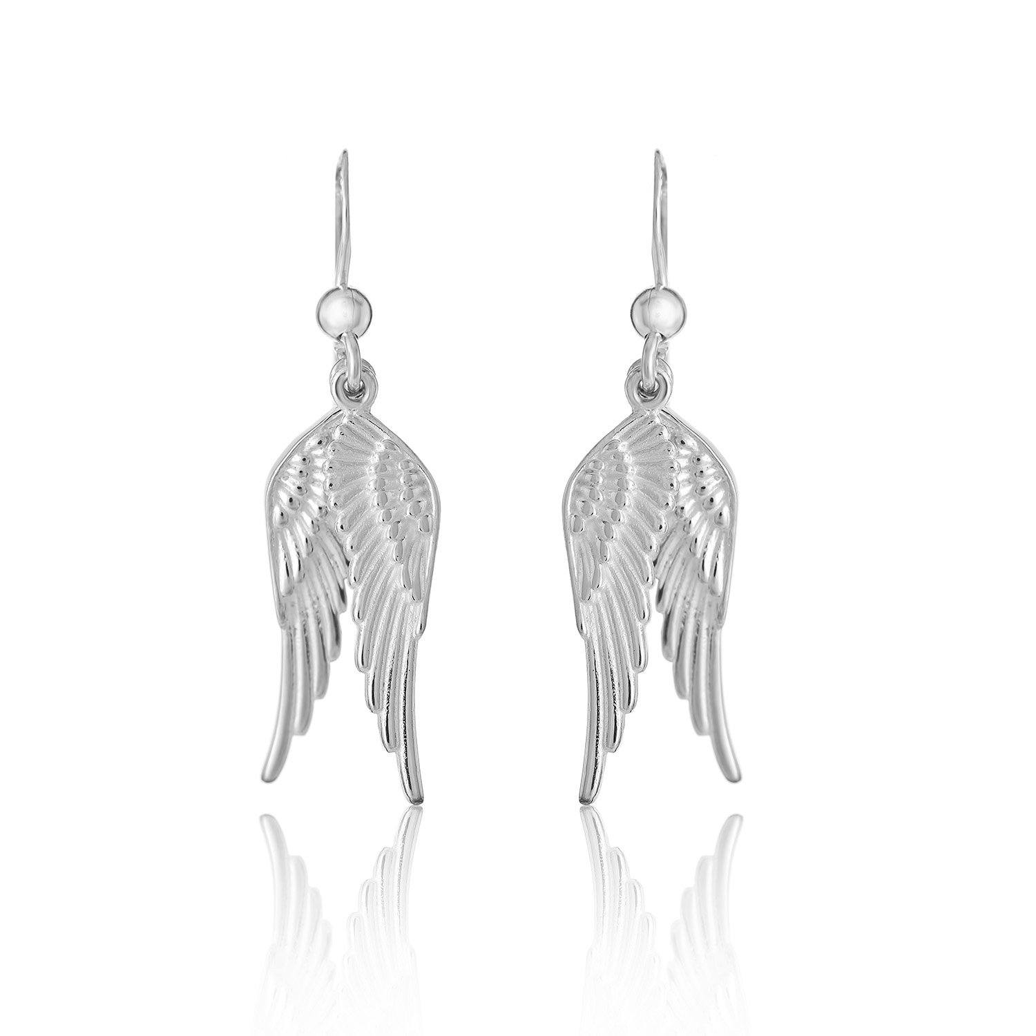 Dual Angel Wing Earrings