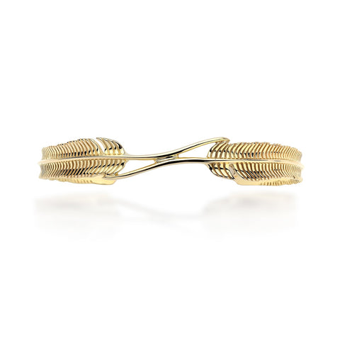 9ct Gold Plume Bangle