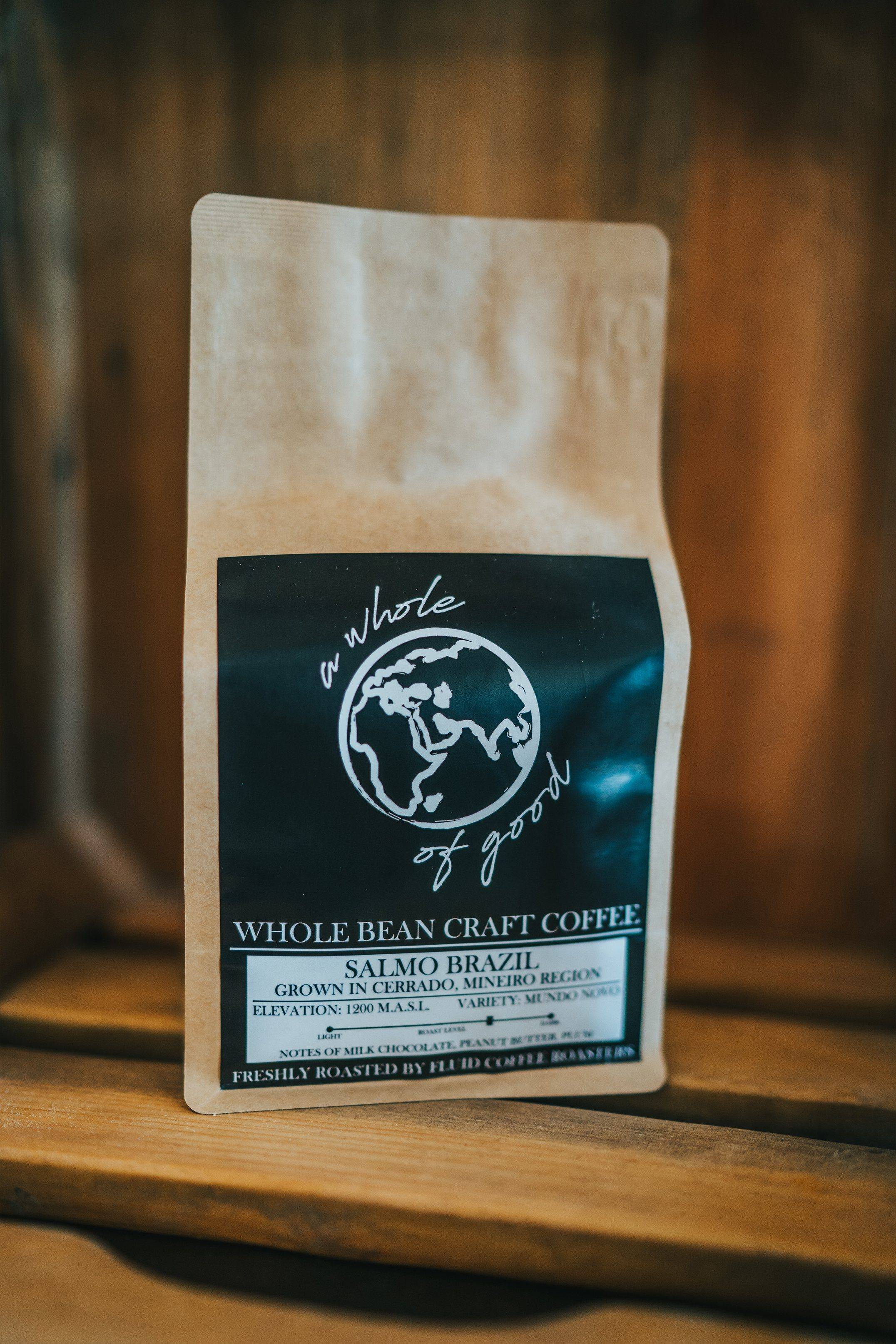 Brazilian Salmo- Whole Bean Craft Coffee by Fluid Roasting Lab - 12oz