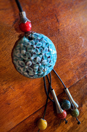 Clay Pendant Necklace