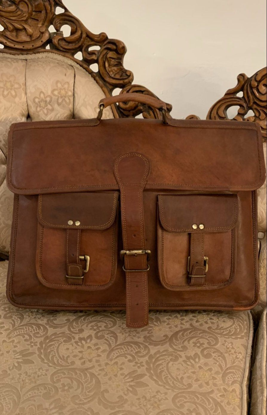 Extra Large Leather Satchel Bag