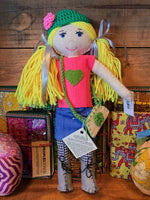 Hand Crafted Doll Amina - Blonde Hair Girl