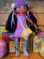 Hand Crafted Doll Nurlana - Black Hair Girl