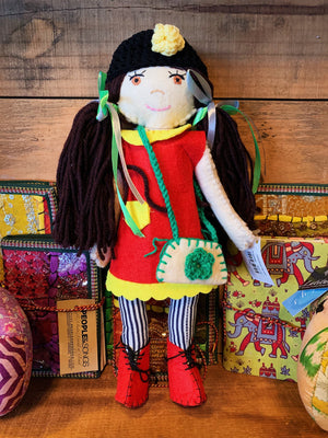 Hand Crafted Doll Zulya - Brown Hair Girl