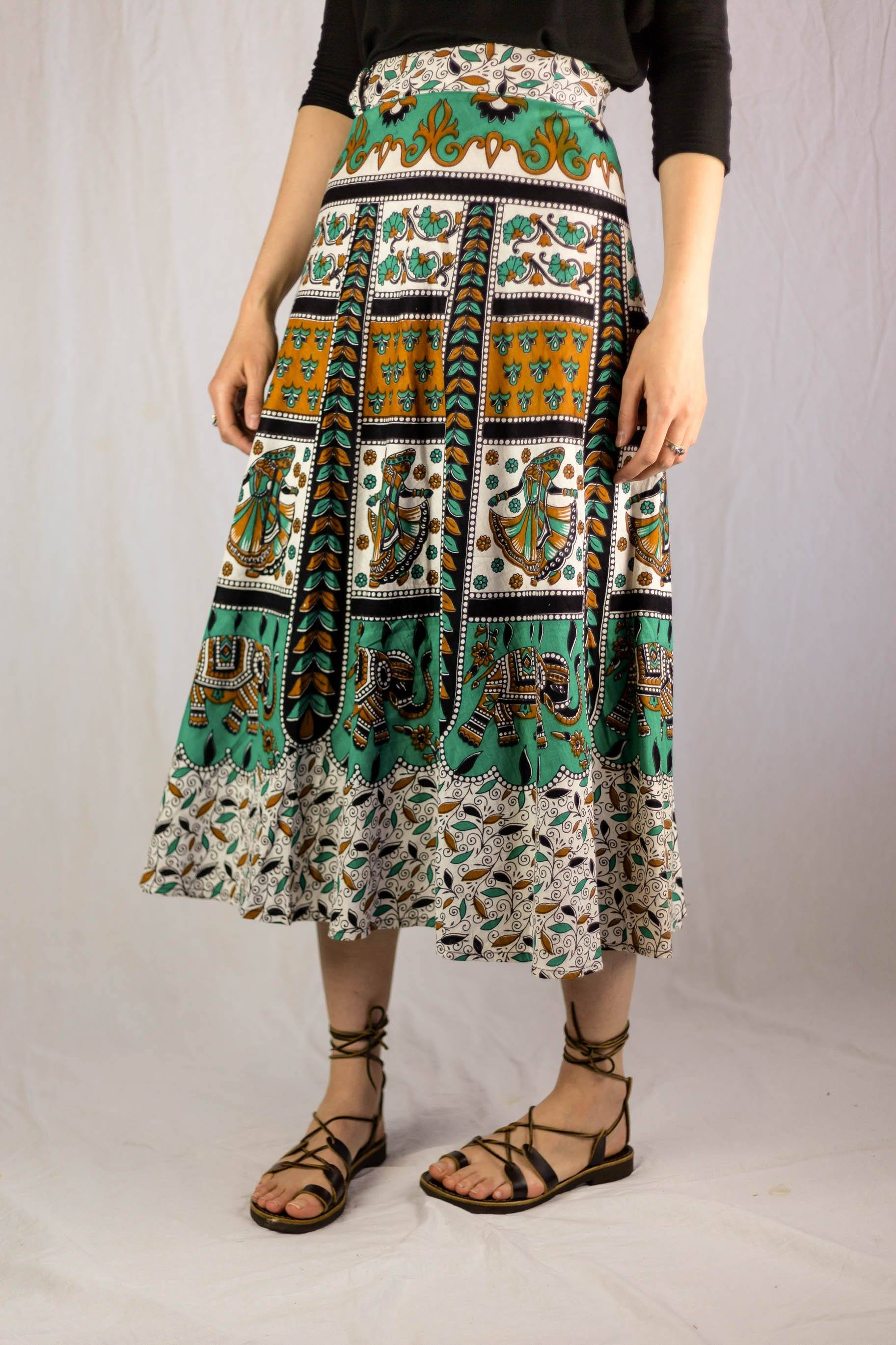 India Wrap Around Skirt Cotton