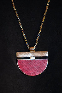 Pink Pendant Necklace