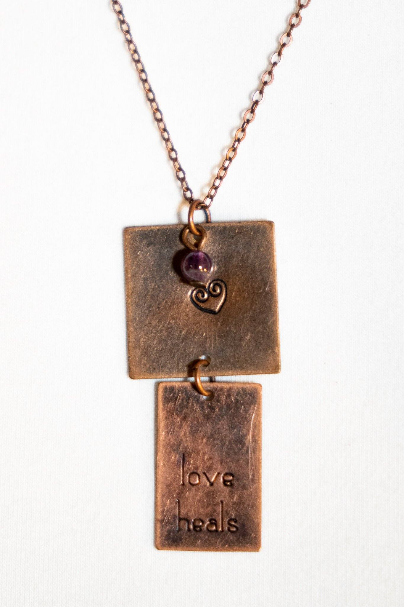 Sweet Pea Necklace - Amethyst