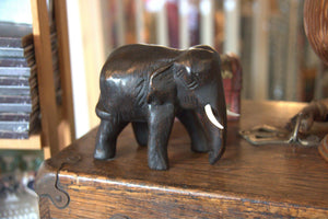 Wooden Elephant Figurine Medium