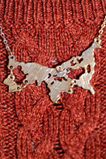 World Continents Map Necklace
