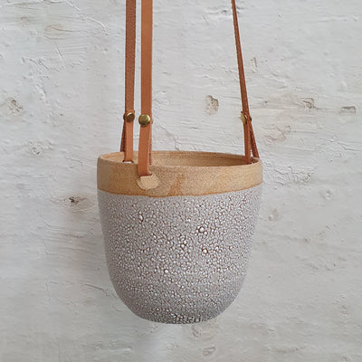 Clay by Tina Crackle hanging planter - plantsmith