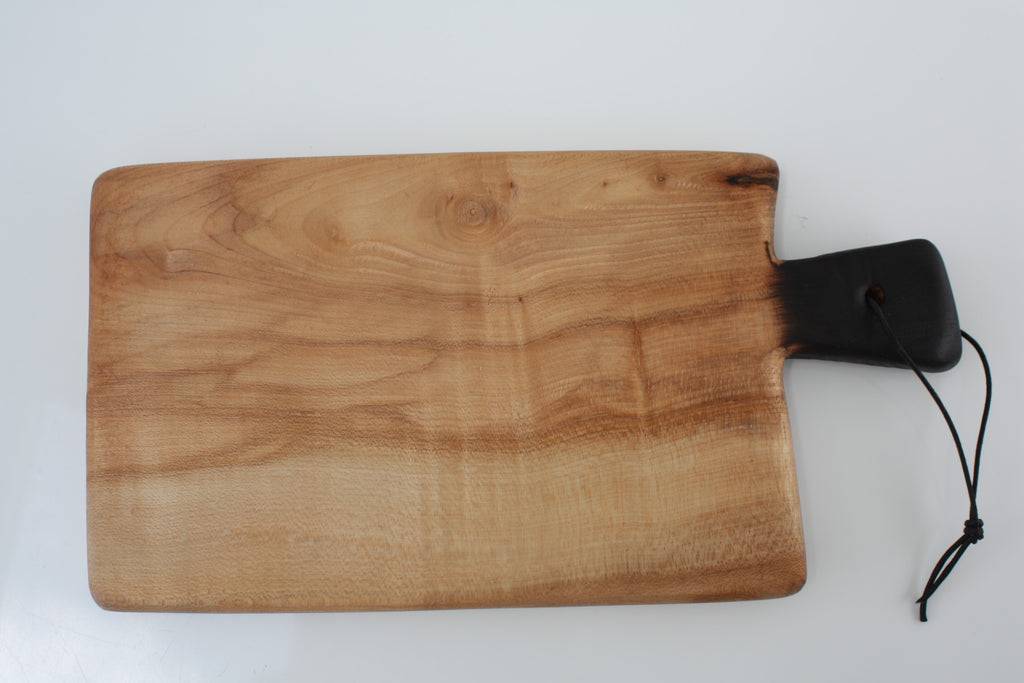 PINK SYCAMORE SERVER WITH CHARRED HANDLE