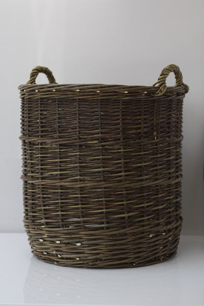 HANDWOVEN LOG BASKET
