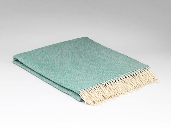 SPEARMINT LAMBSWOOL THROW