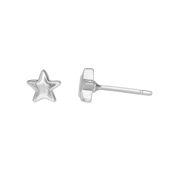 LUCKY STAR EARRINGS IN SILVER