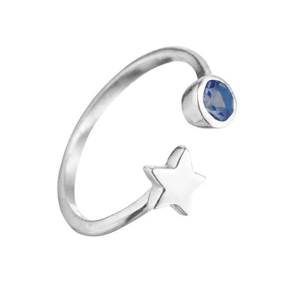 OPEN SKIES STAR RING IN SILVER