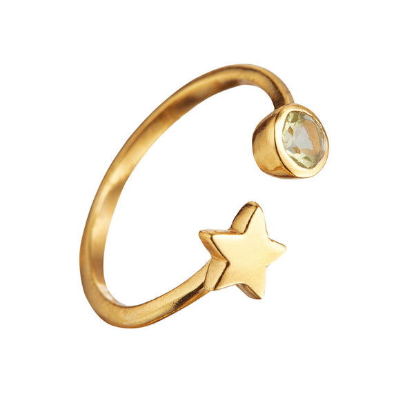 OPEN SKIES STAR RING IN GOLD
